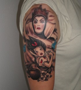 Snow White theme tattoo