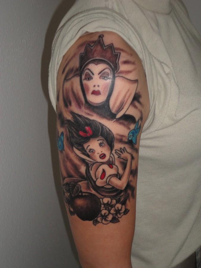 Snow White theme tattoo
