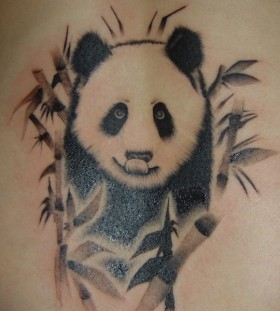 Sweet panda bear tattoo