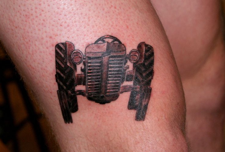 Vintage tractor tattoo