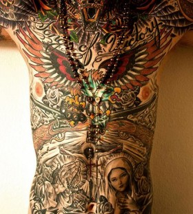 Wonderful men's full body tattoo