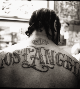Xzibit Lost Angel back tattoo