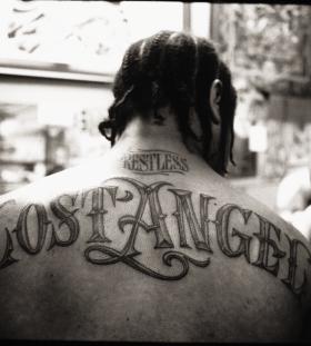 Xzibit Lost Angel back tattoo