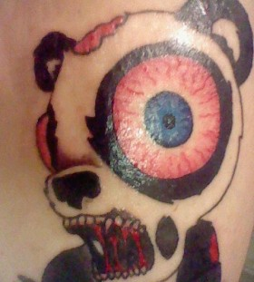 Zombie panda bear tattoo