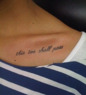 this to shall pass quote tattoo