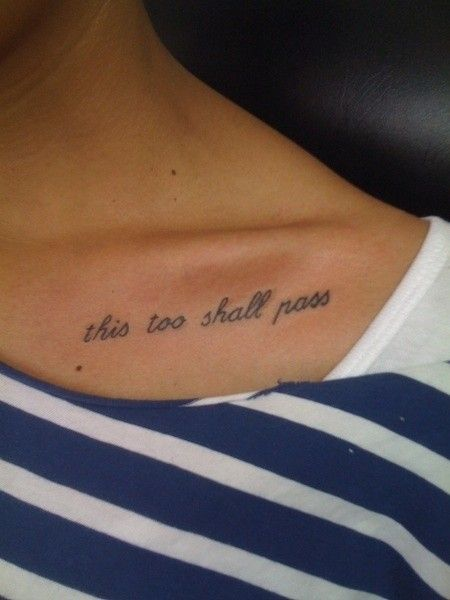 Pretty looking black quotes tattoos