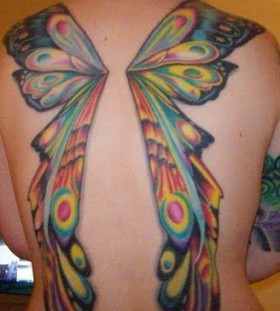 Fairy wing tatto0 bold colors