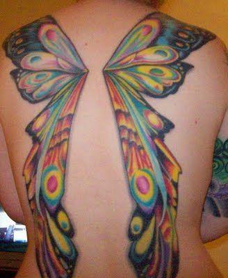 Fairy wing tatto0 bold colors