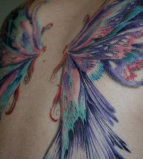 Fairy wing tattoo painted
