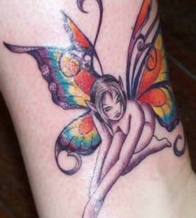 cool Fairy wing tattoo