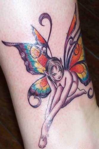 cool Fairy wing tattoo