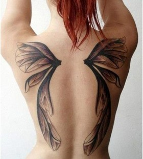 detailed Fairy wing tattoo