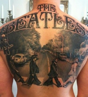 The Beatles tribute tattoo by Ellen Westholm