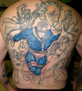 The x-men back tattoo