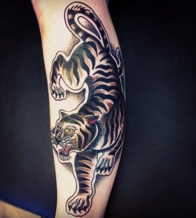 Tiger tattoo by Matt Cooley