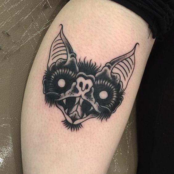 traditional-bat-halloween-tattoo