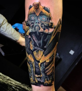 Transformers Bumblebee arm tattoo