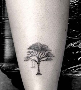 Tree and swing tattoo by Dr Woo