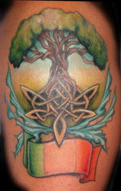 Tree of life tattoo by Jessica Brennan