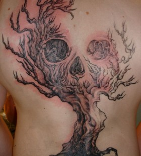Trees, forests scary tattoo
