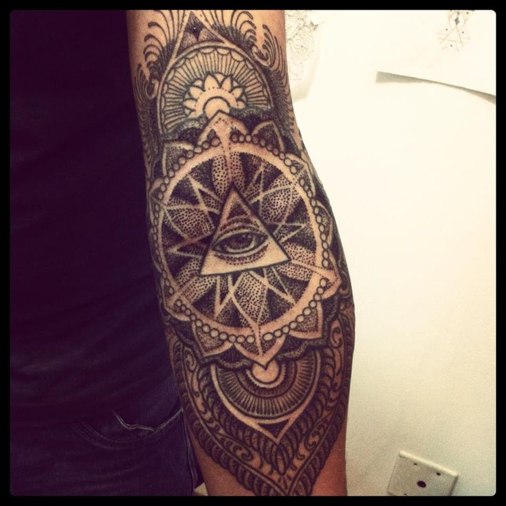 Triangle eye tattoo by Brian Gomes
