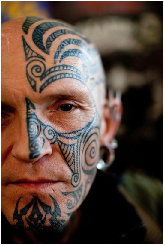 Tribal face tattoo 3