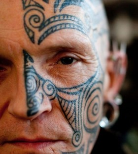 Tribal face tattoo 3