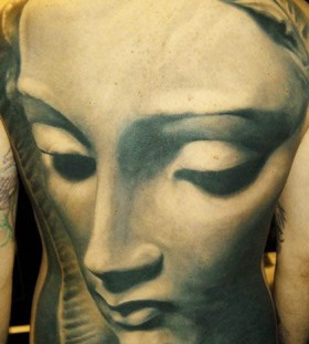 Unbelievable back tattoo by James Tattooart