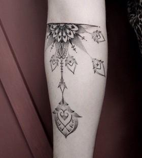 Unique style mandala tattoo
