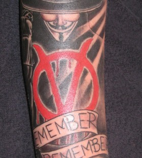 V for vendetta and quote tattoo