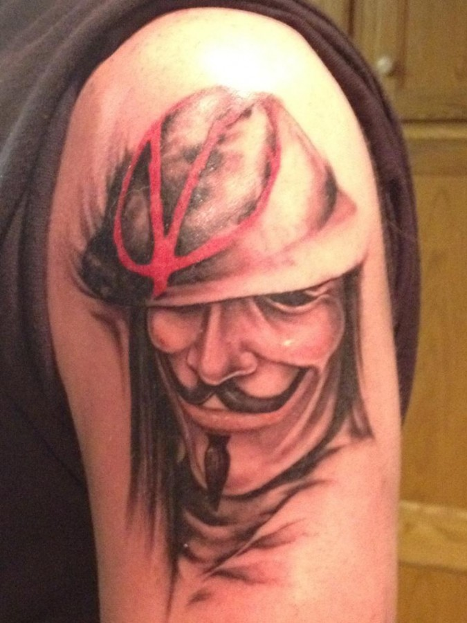V for vendetta arm tattoo
