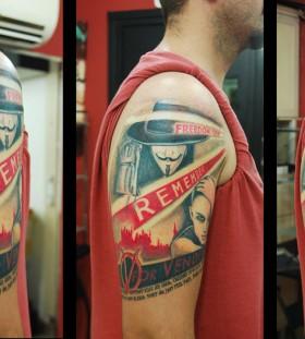V for vendetta theme tattoo