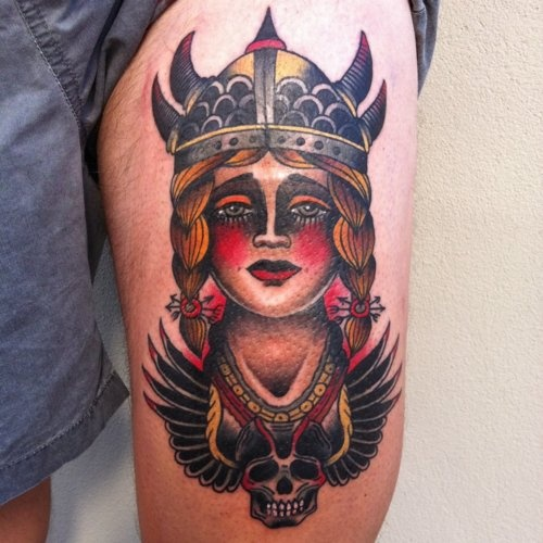Viking girl tattoo by James McKenna