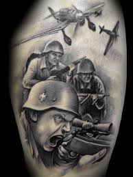 War zone theme tattoo