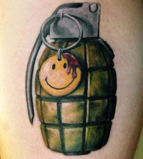 Watchmen sign grenade tattoo