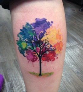 Watercolour tattoo - tree
