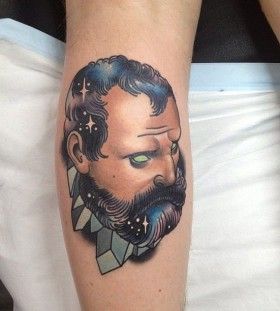 Weird man tattoo by Dan Molloy
