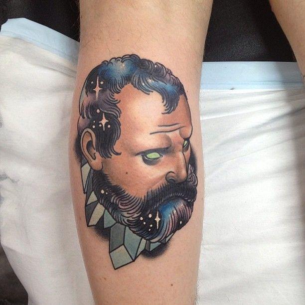 Weird man tattoo by Dan Molloy