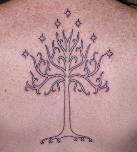 White tree of gondor tattoo