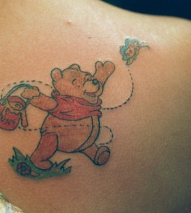 Winnie the pooh and pot tattoo