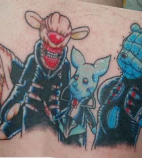 Winnie the pooh characters tattoo