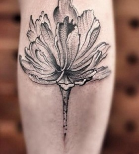 Winter blossom tattoo by Chen Jie