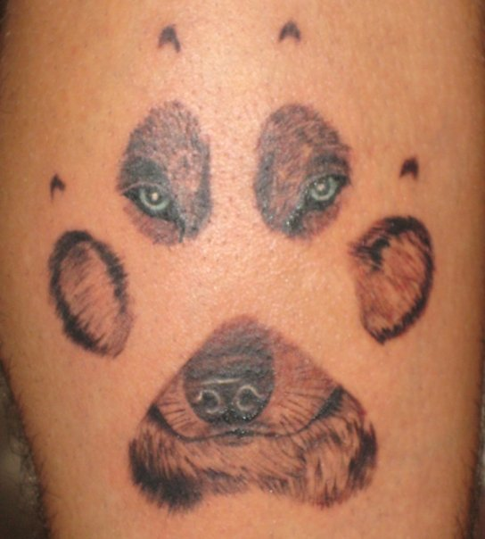 Wolf paw tattoo