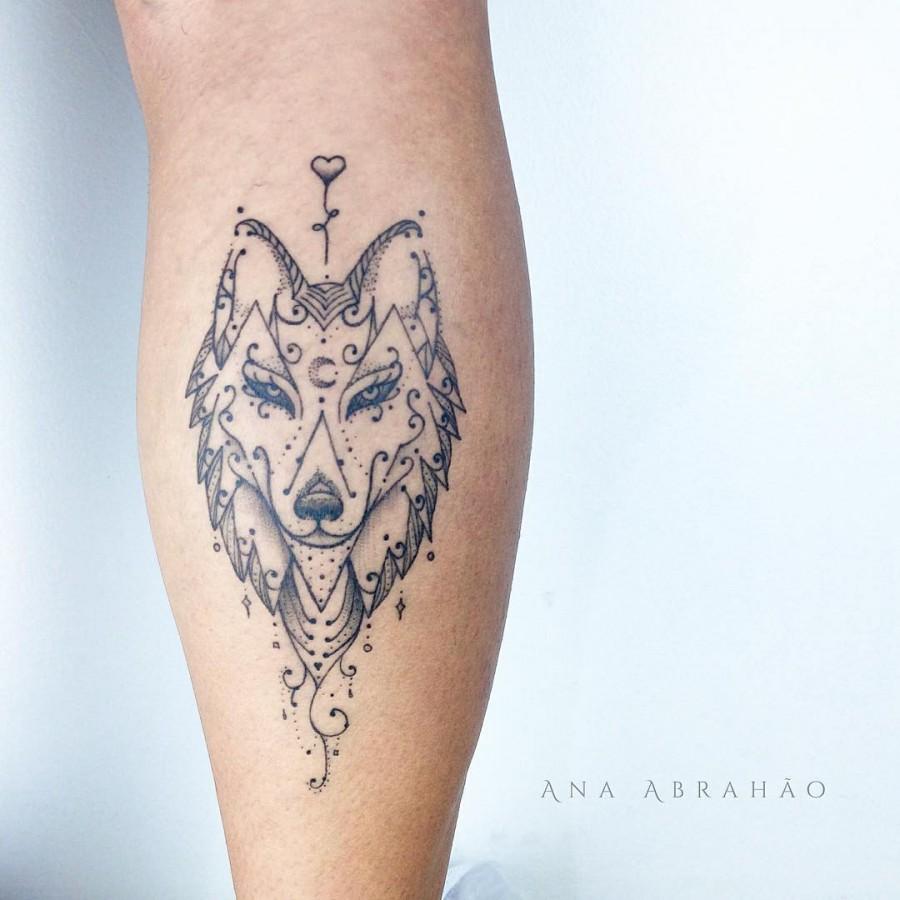 wolf tattoo by abrahaoana