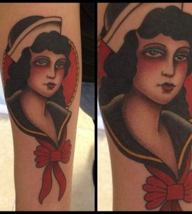Woman tattoo by Javier Bentacourt