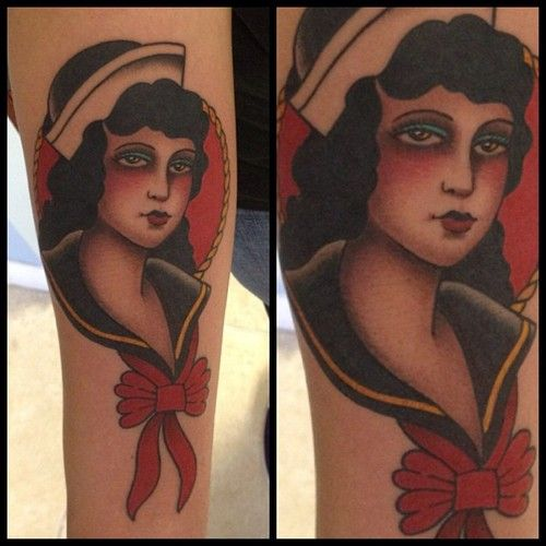 Woman tattoo by Javier Bentacourt