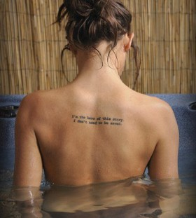 Woman'c back cute tattoo