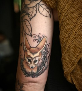 Wonderful fox tattoo by Alice Kendall