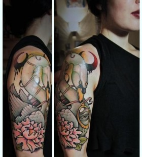 Wonderful swan tattoo by Alex Dorfler