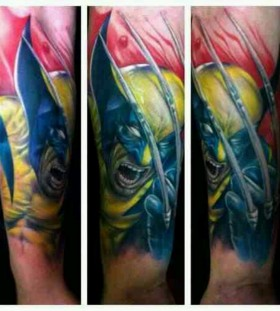 X-men angry wolverine tattoo